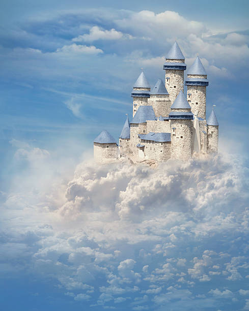 castle in the clouds - castle stock pictures, royalty-free photos & images