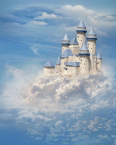 castelo nas nuvens - castelo - fotografias e filmes do acervo