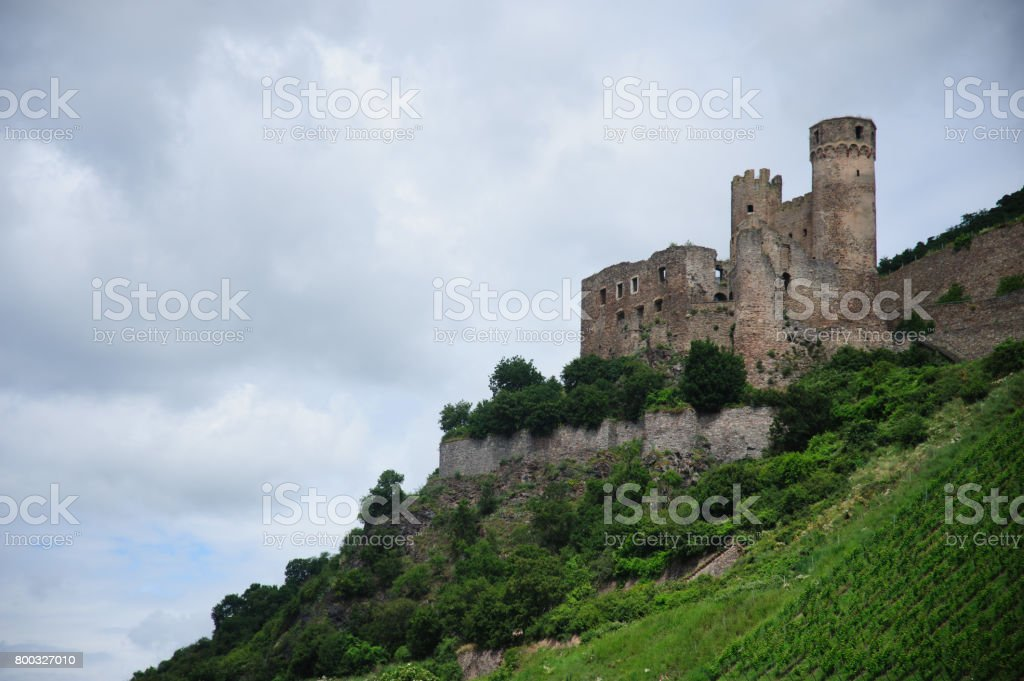 Castle in the Rhine Valley stock photo