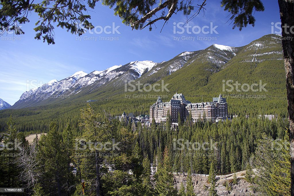 Castle in the Rockies royalty-free stock photo