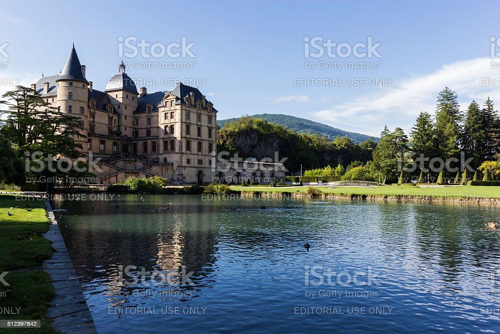 Castle in Vizille in France stock photo