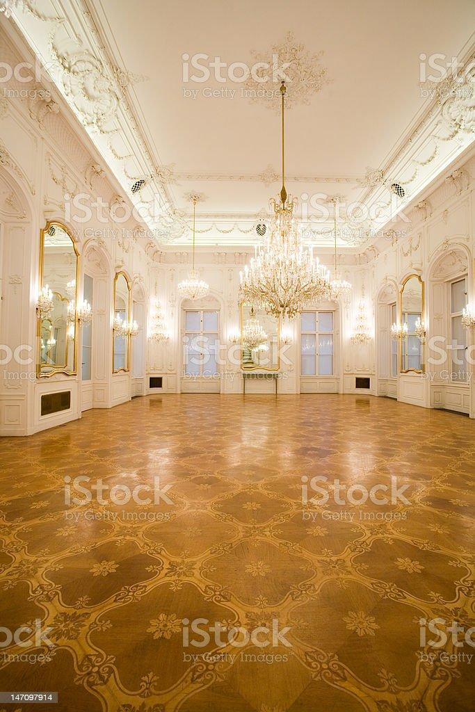 castle interior, mirror room royalty-free stock photo