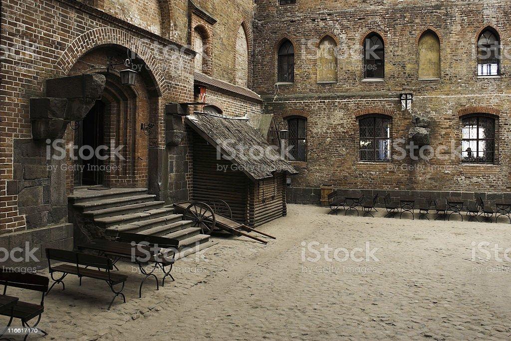 Castle - Interior View stock photo