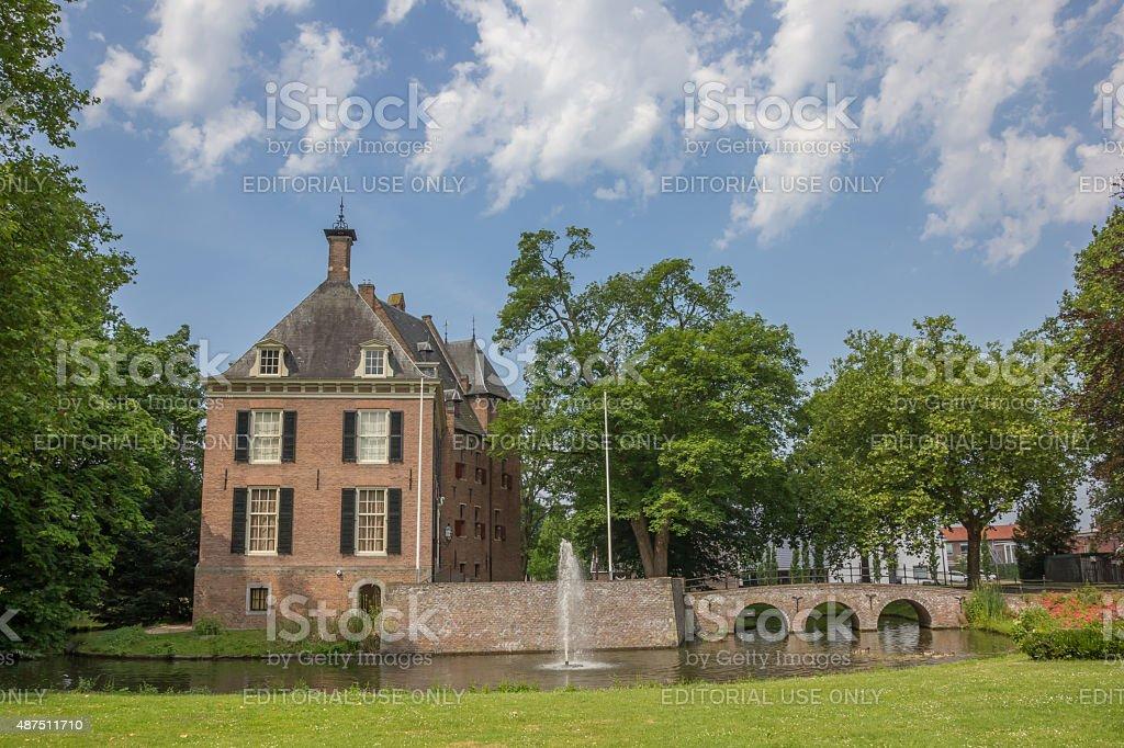 Castle Kinkelenburg in the historic centre of Bemmel stock photo