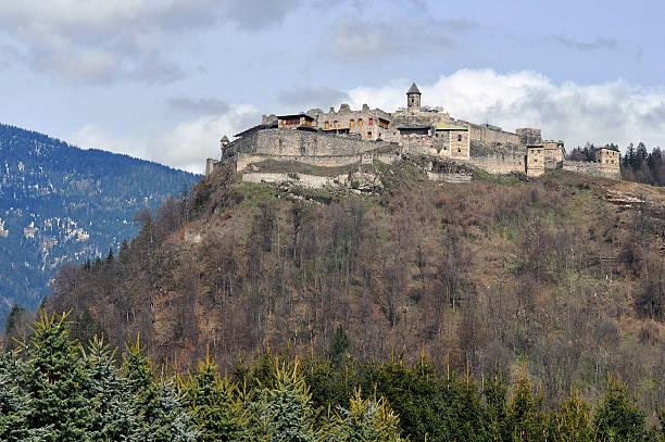 castle Landskron,Alps,Austria stock photo