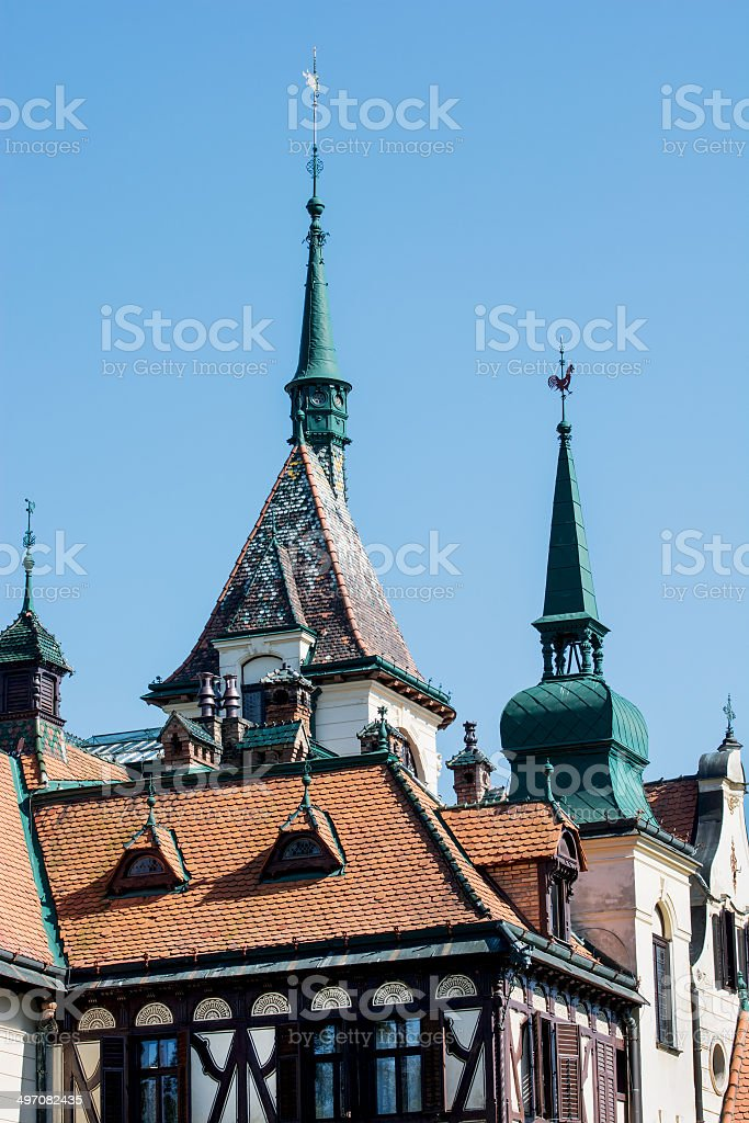 Castle Lesna stock photo