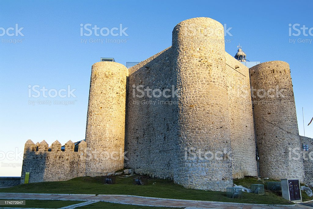 Castle Lighthouse of Castro Urdiales. Cantabria. Spain. stock photo