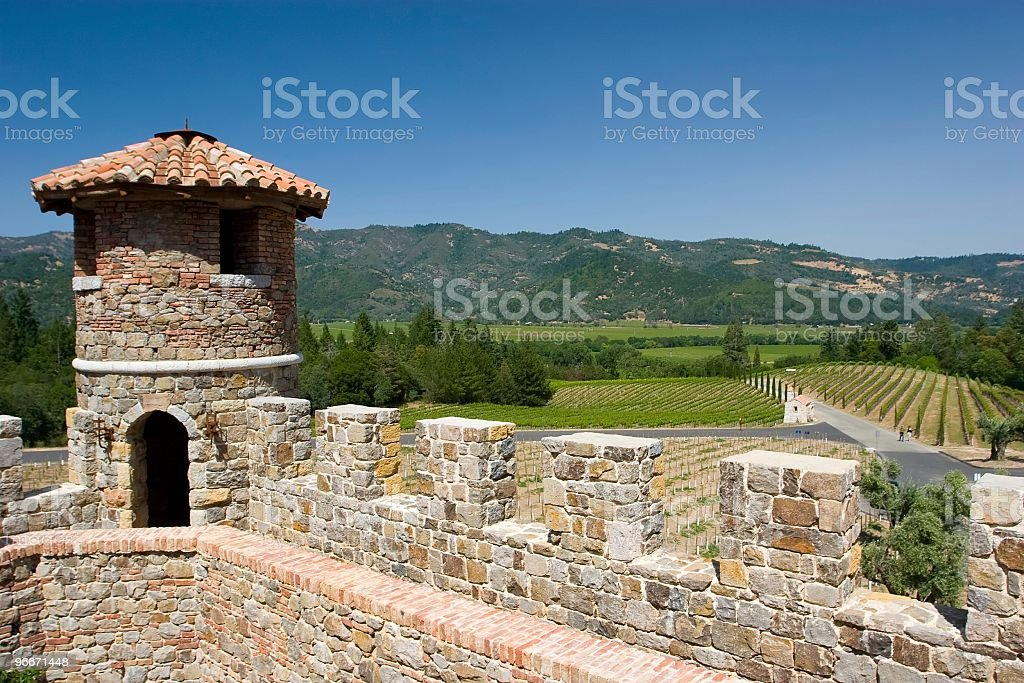 Castle like structure in Napa Valley, California royalty-free stock photo