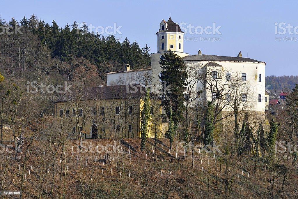 Castle Malenovice, Repubblica Ceca foto stock royalty-free