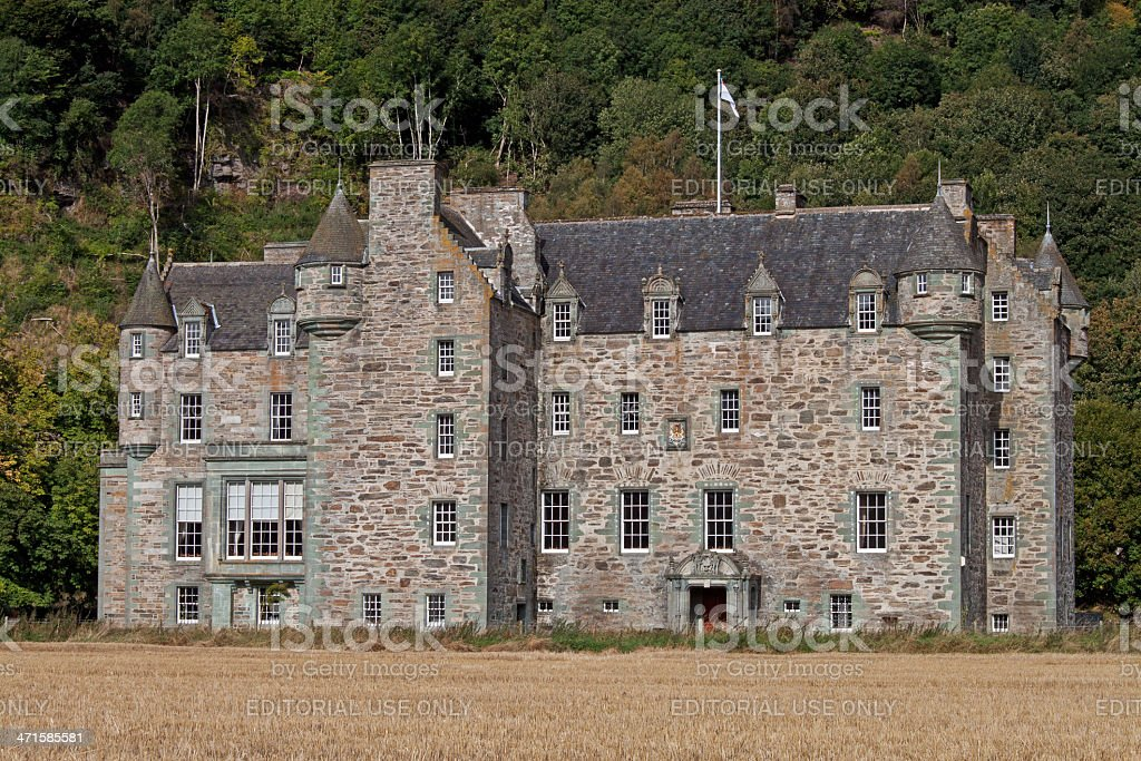 Castle Menzies stock photo