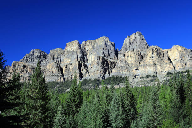 Castle Mountain, Canadian Rockies stock photo