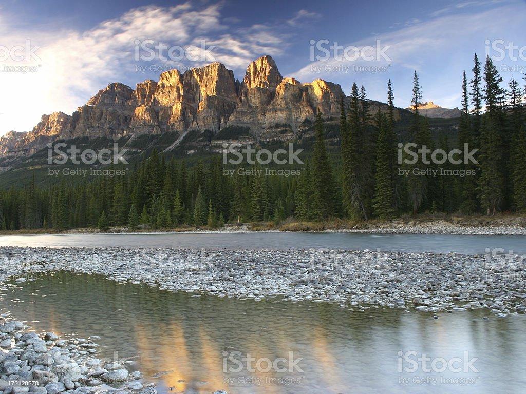 Castle Mountain royalty-free stock photo