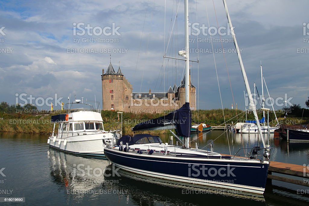 Castle Muiden (Muiderslot) stock photo