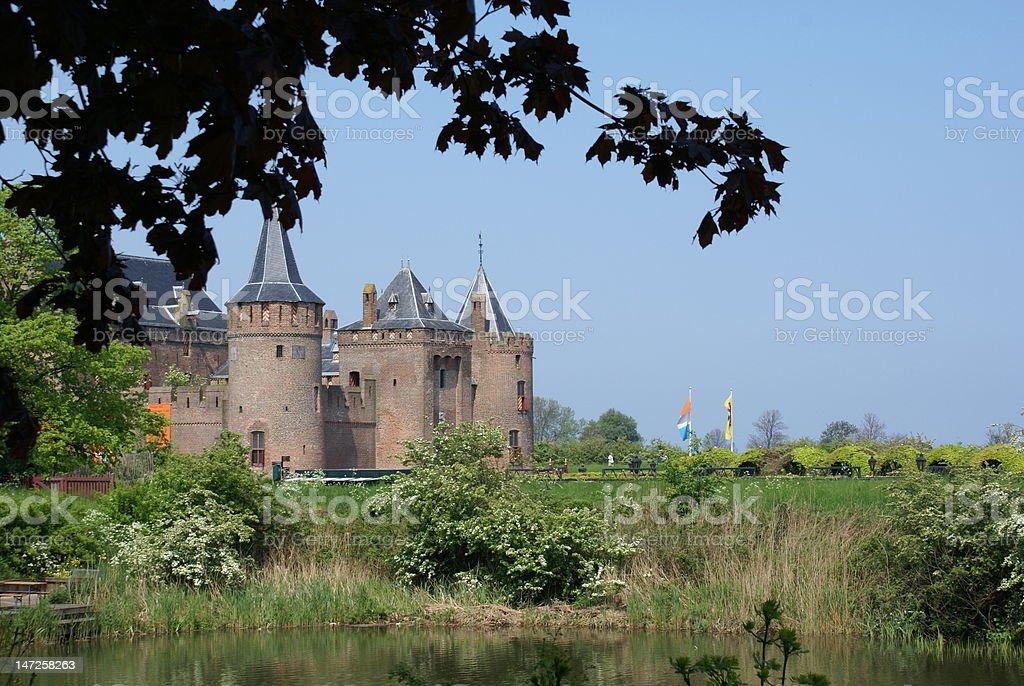 Castle 'Muiderslot'  in The Netherlands stock photo