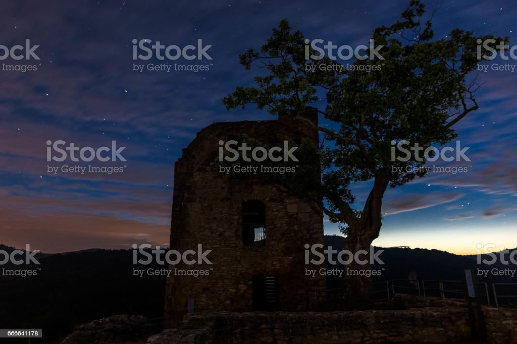 castle neideck  - frankonia - at night stock photo