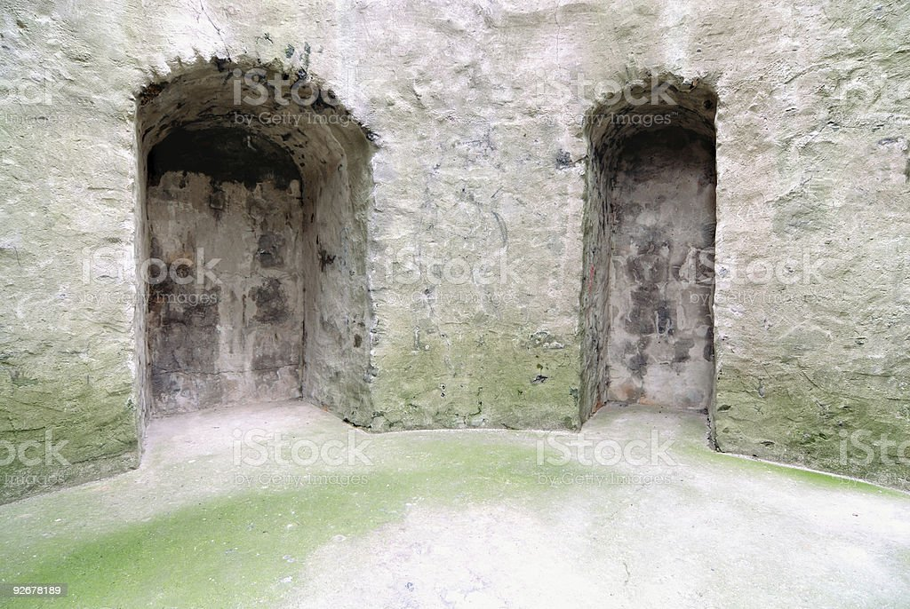 Castle niches royalty-free stock photo