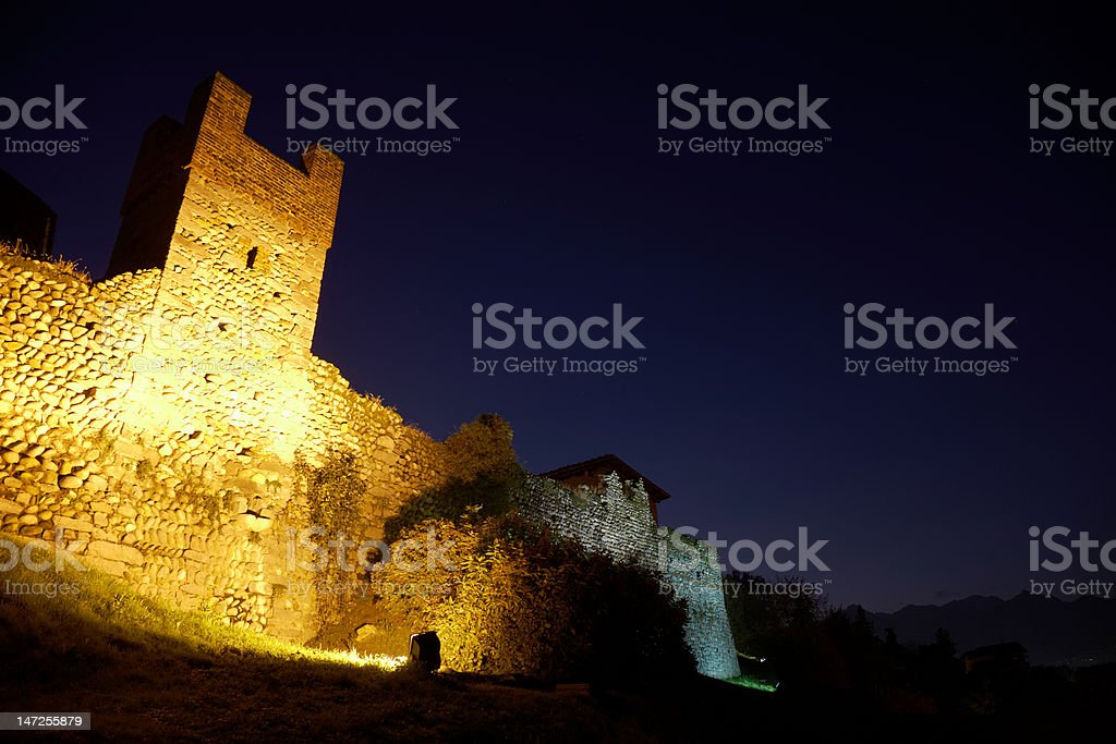 Castle night royalty-free stock photo