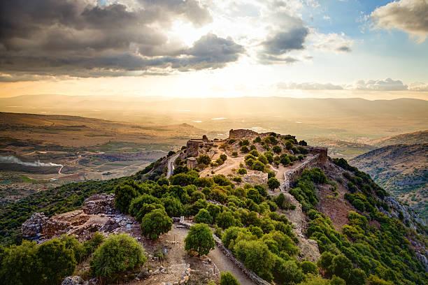 castle nimrod - israël stockfoto's en -beelden