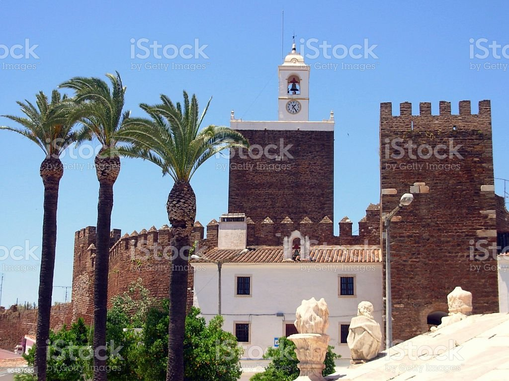 Castle of  Alandroal stock photo