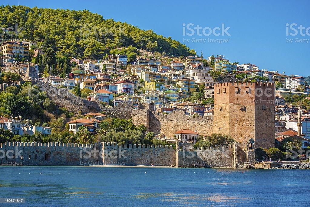 castle of Alanya stock photo