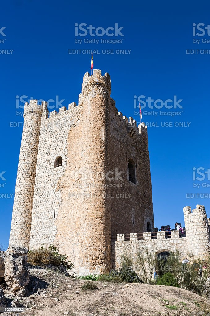 Castle of Almohad origin of the century XII, Spain zbiór zdjęć royalty-free