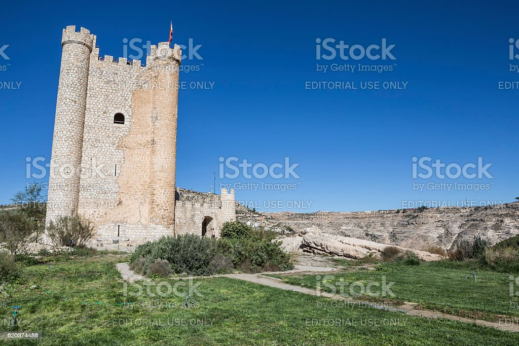 Castle of Almohad origin of the century XII, Spain foto de stock royalty-free
