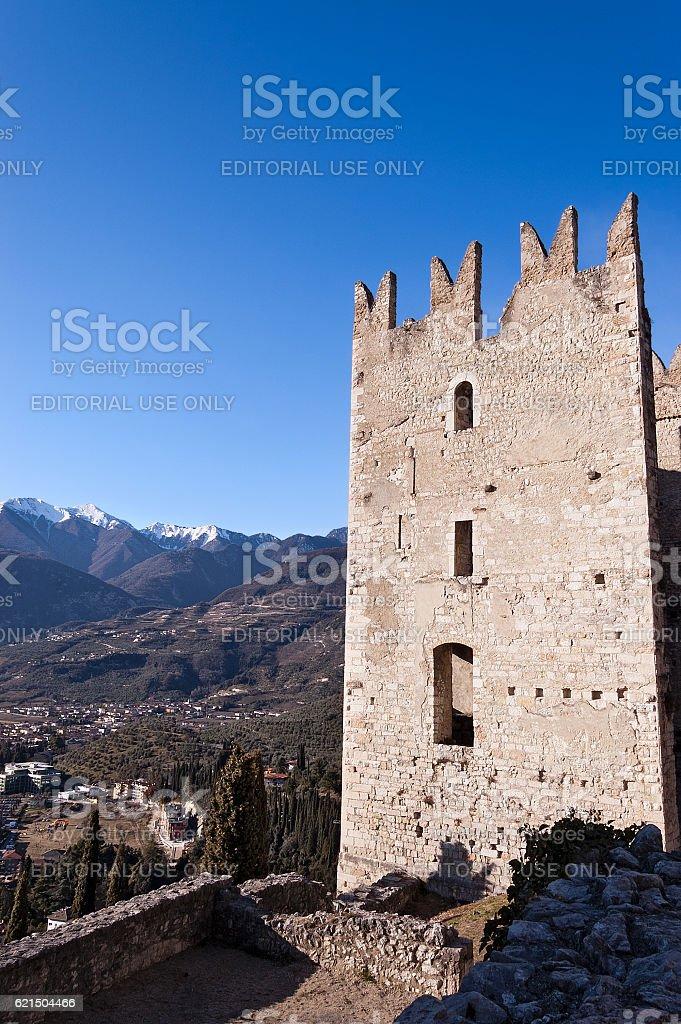 Castle of Arco di Trento - Trentino Italy Lizenzfreies stock-foto