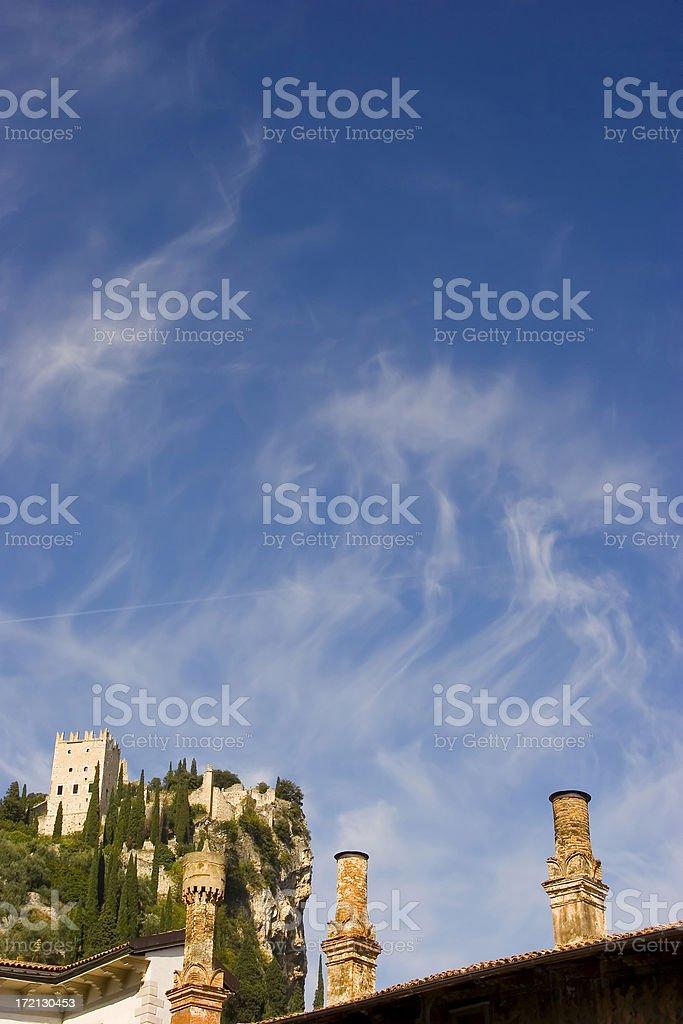 Castle of Arco stock photo