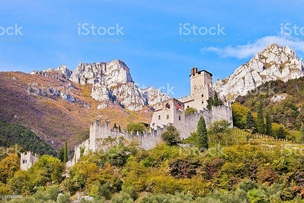 Castle of Avio, Italy stock photo