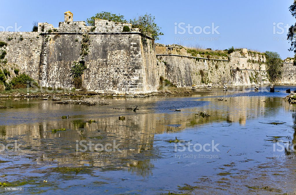 Castle of Ayia Mavra at Lefkada, Greece stock photo