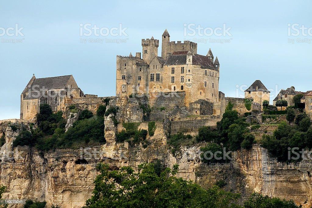 Castle of Beynac, France stock photo