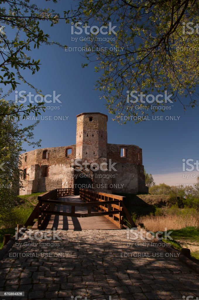 Castle of Bishops in Siewierz. stock photo