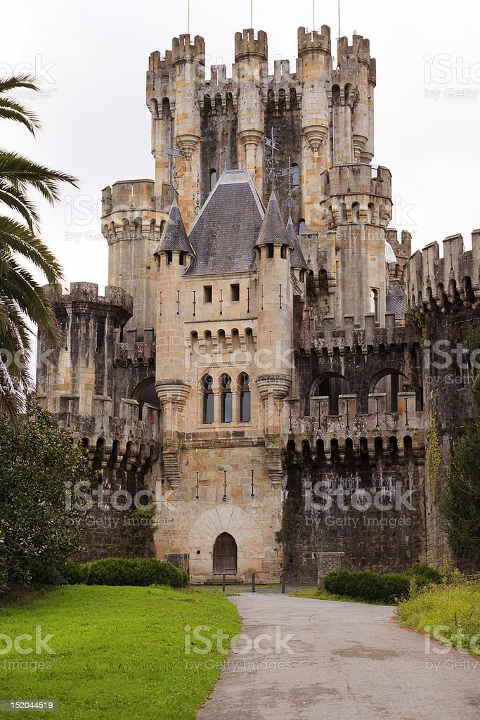 Castle of Butron royalty-free stock photo