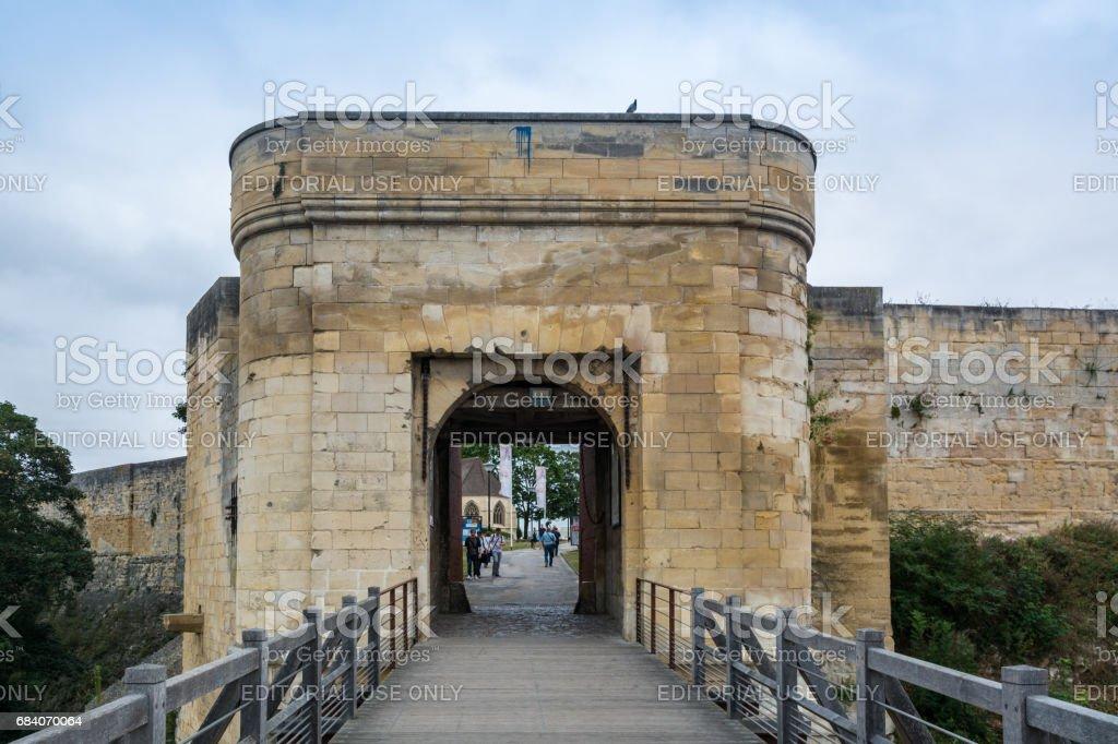 Castle of Caen, France stock photo