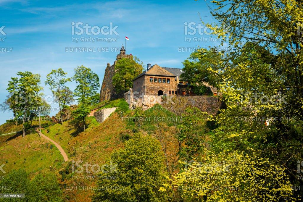 castle of City Saarburg stock photo