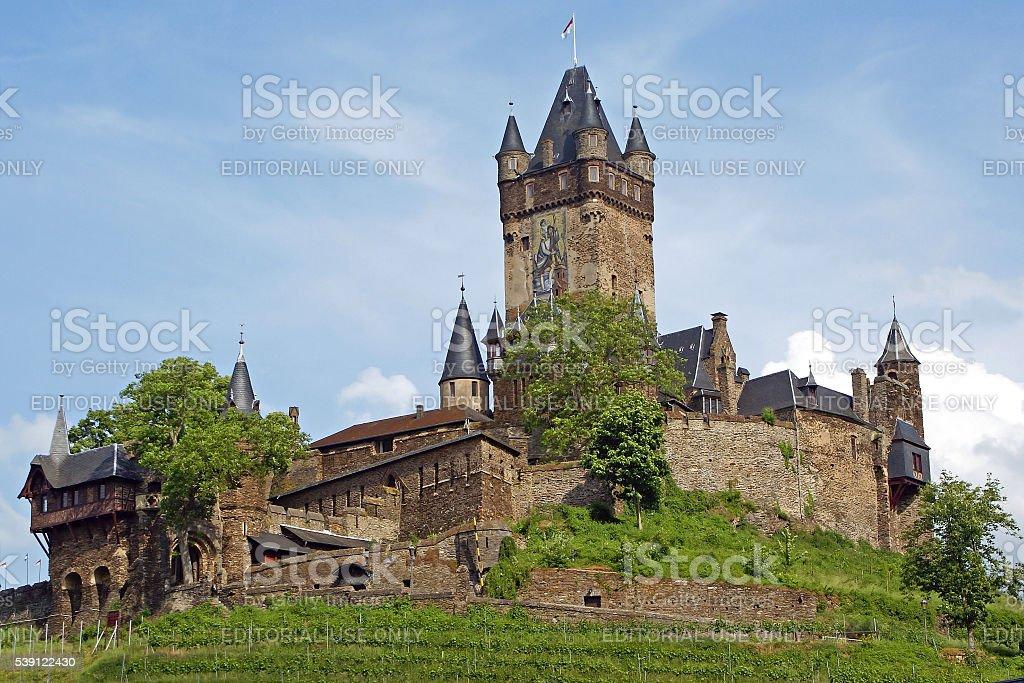 Castle of Cochem, Germany stock photo