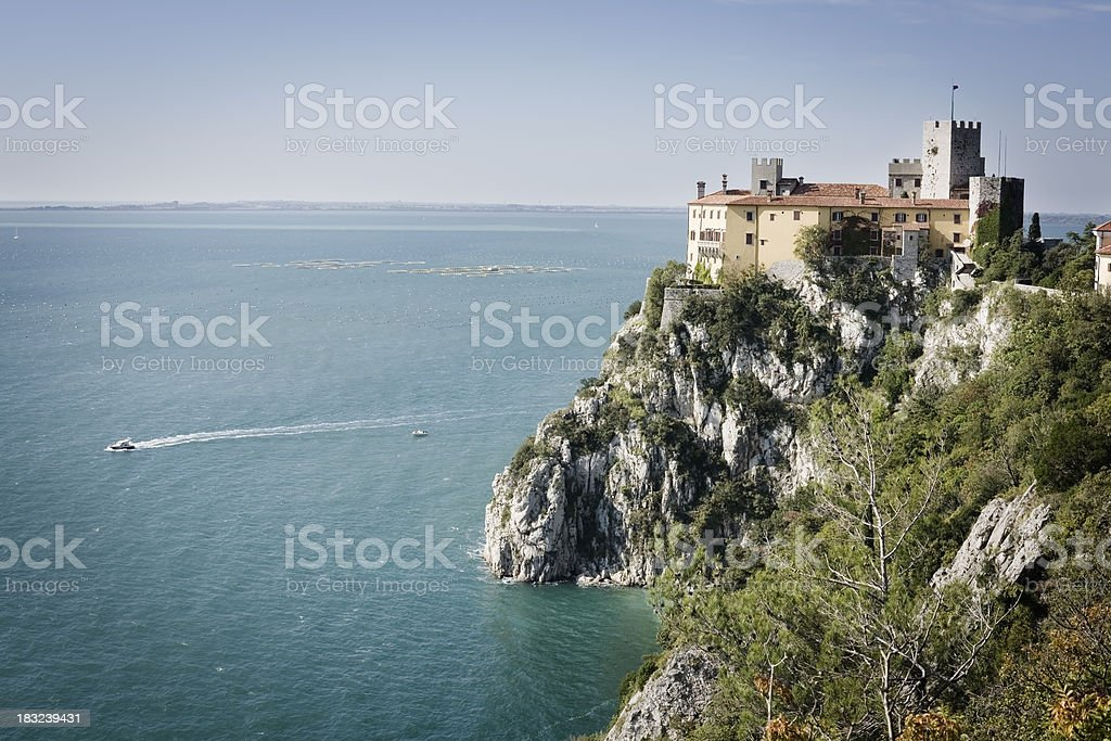 Castle of Duino, Trieste. stock photo