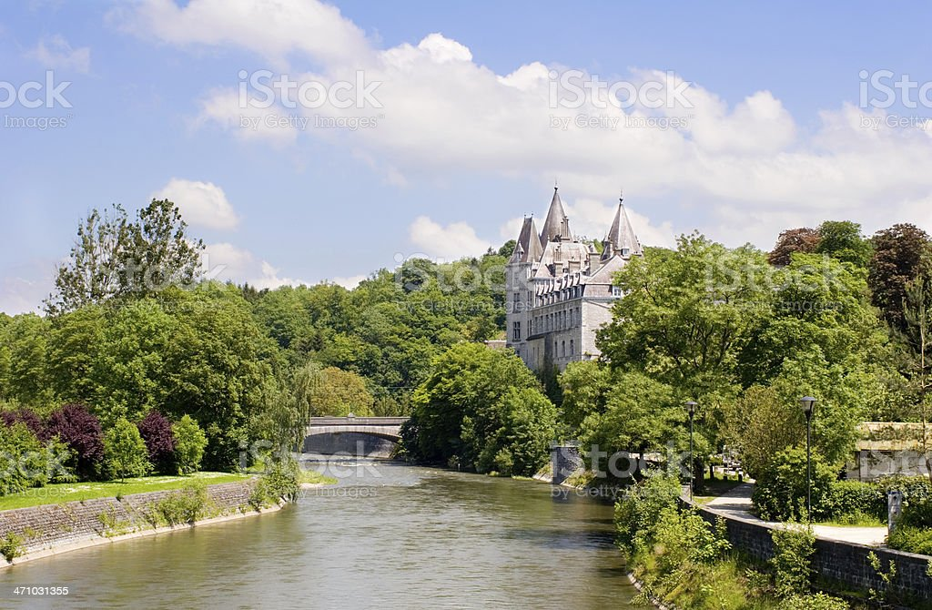 Castle of Durbuy, smallest city in Europe stock photo