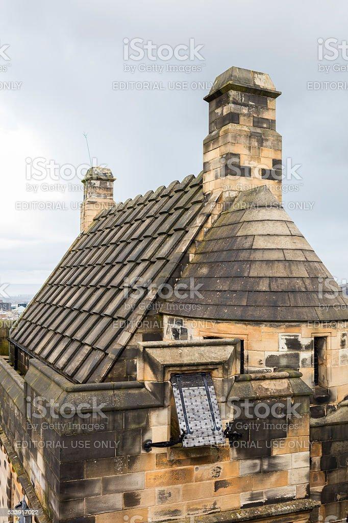 Castle of Edinburgh, Scotland. Building for defense stock photo