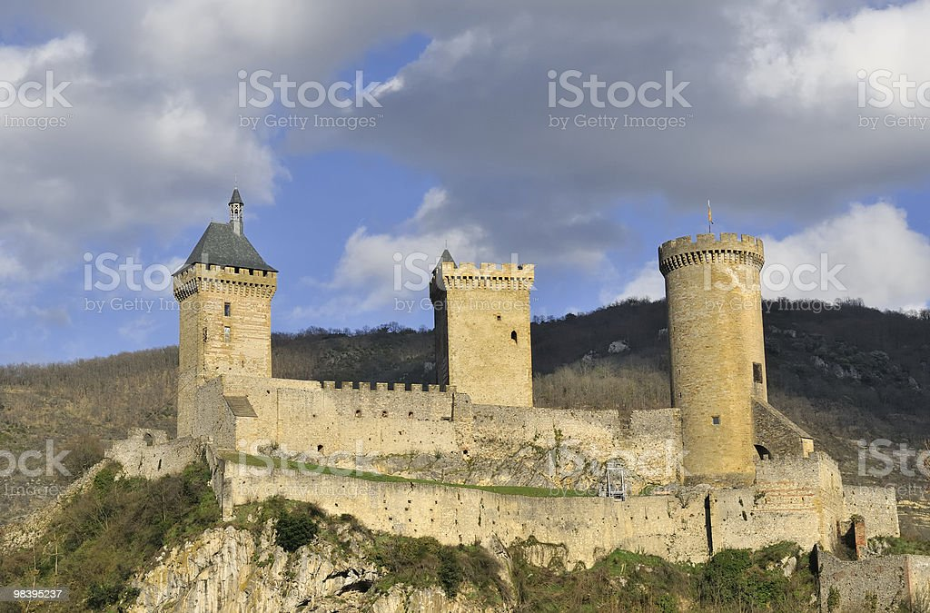 Castle of Foix royalty-free stock photo