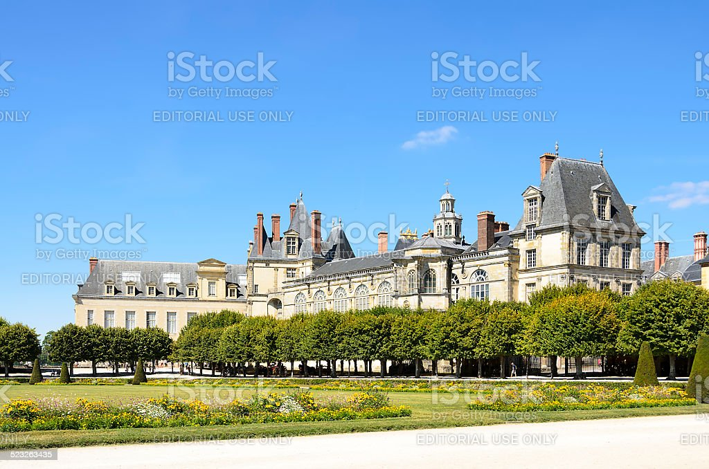 Castle of Fontainebleau stock photo