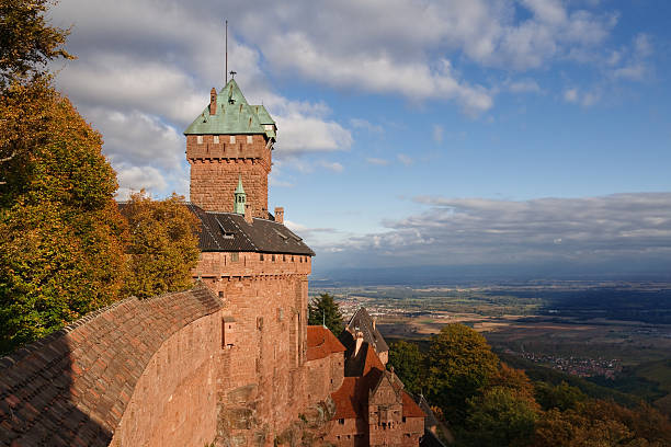 Castle of Haut-Koenigsbourg, Alsace, France stock photo