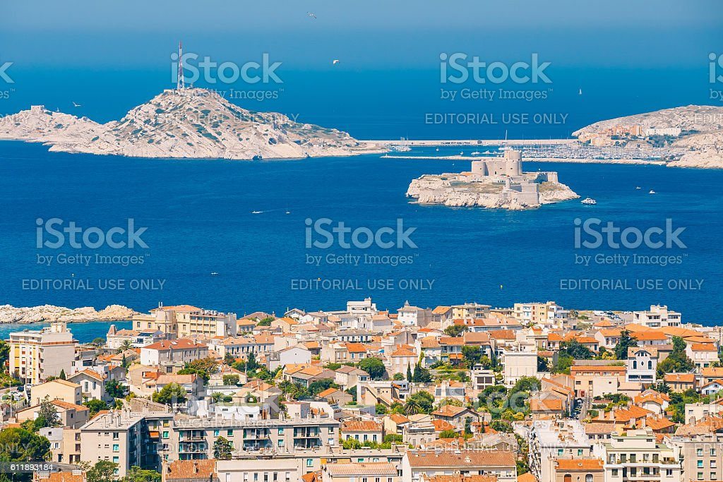 Castle of If in Marseilles, France stock photo