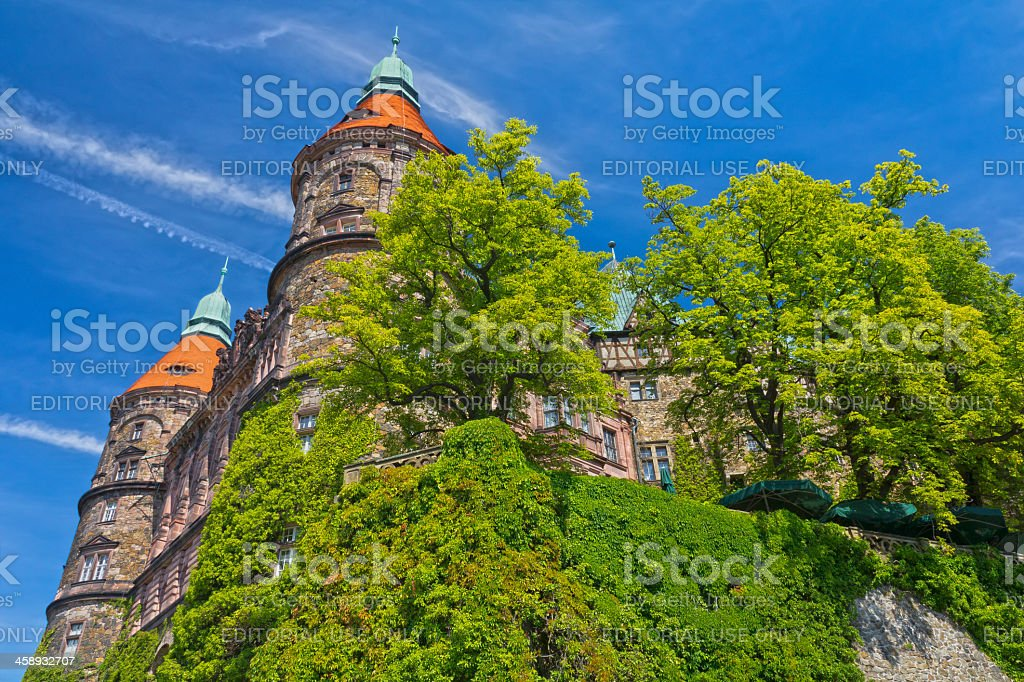 Castle of Ksiaz in Summer, Poland stock photo
