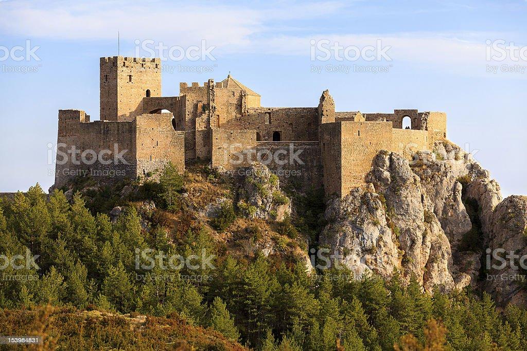 Castle of Loarre stock photo