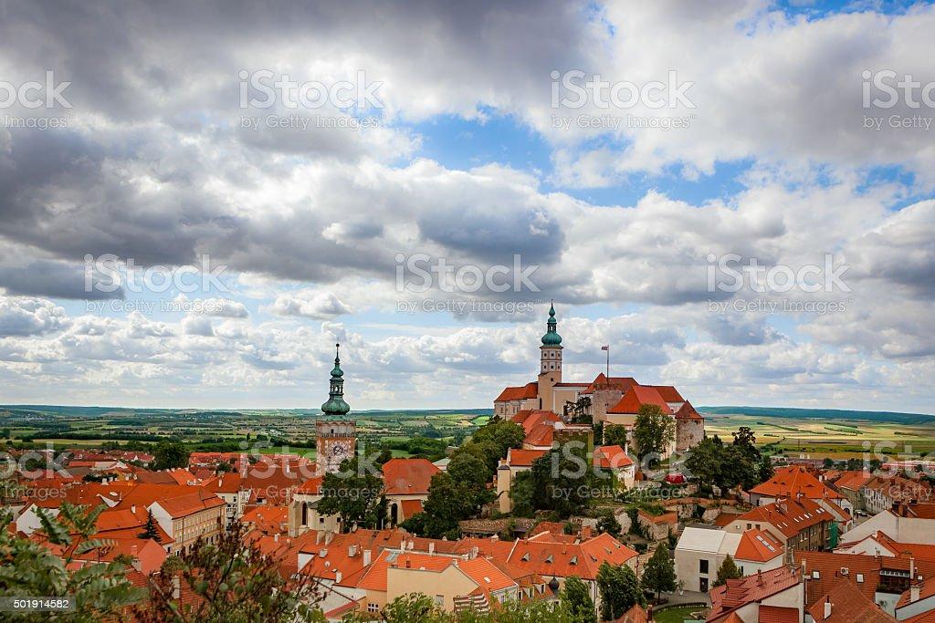 Castle of Mikulov in southern Moravia, Czech Republic stock photo