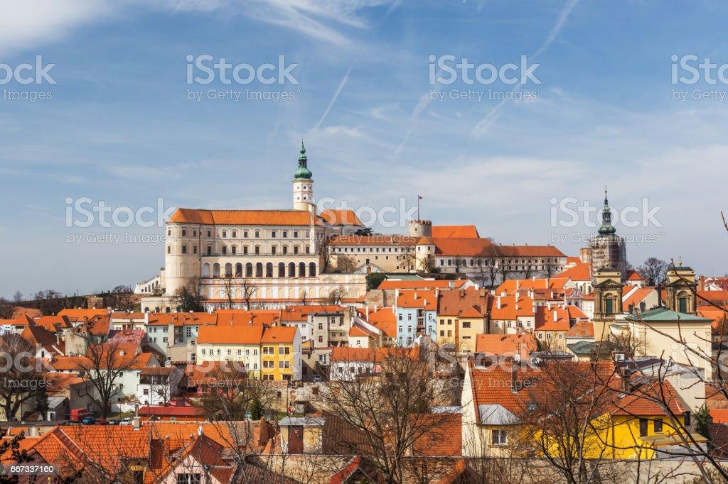 Castle of Mikulov, South Moravia, Bohemia, Czech Republic stock photo