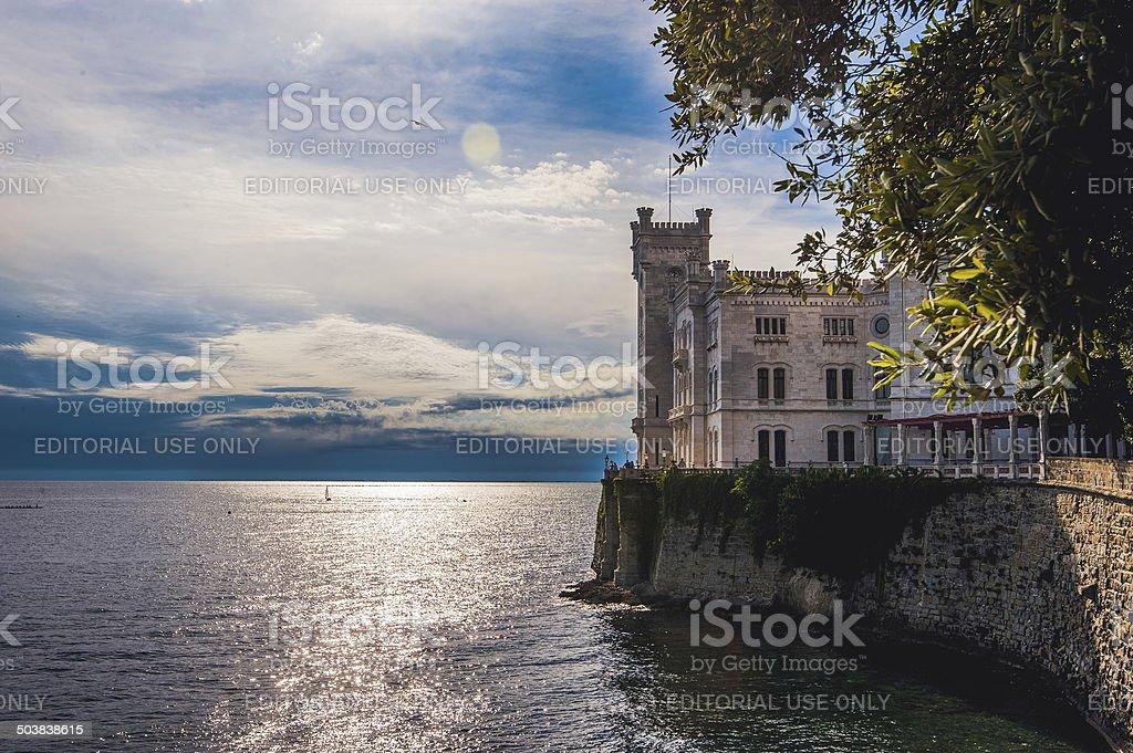 Castle of Miramare stock photo