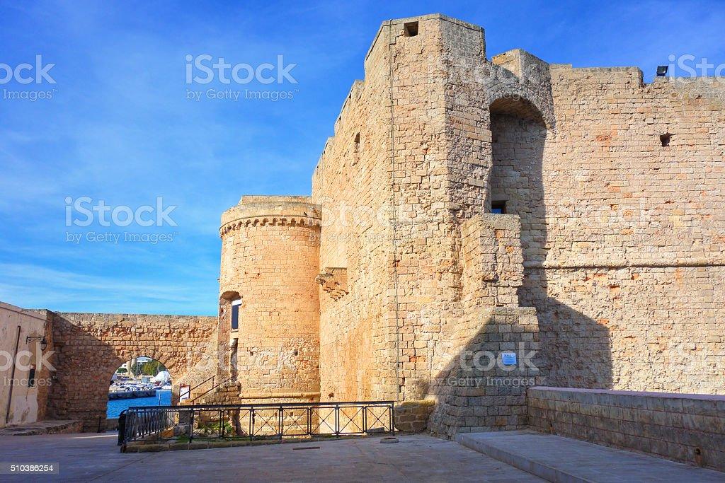 Castle of Monopoli. Puglia. Italy. stock photo