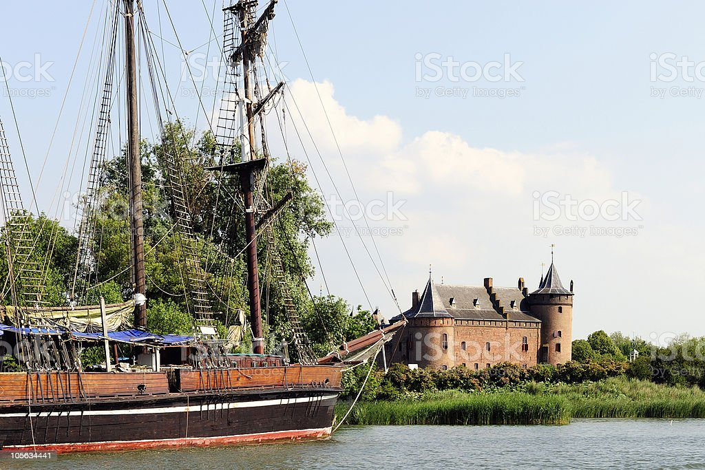 Castle of Muiden stock photo